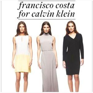 Francisco Costa for Calvin Klein Colorblock Dress